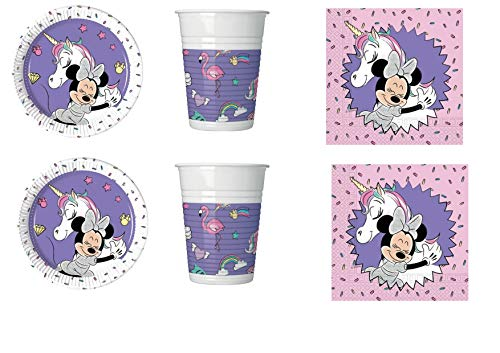 Minnie Caffe Party Kit N ° 1CDC-(8Teller, 8Becher, 20Servietten)