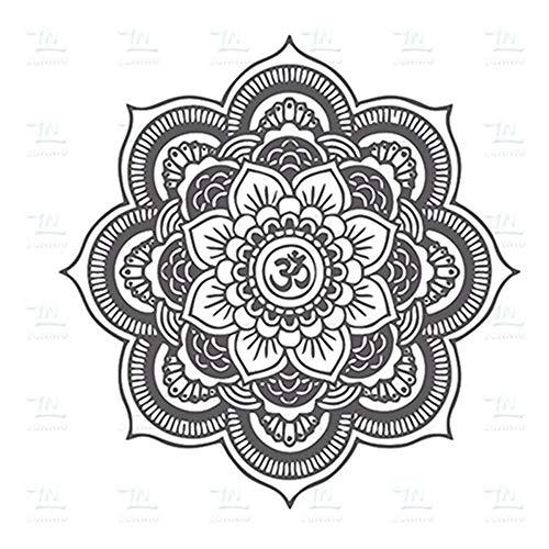 Umweltfreundliche Big Mandala Vinyl Wandtattoo Yoga Aufkleber Menhdi Lotus Große Muster Ornament Om Indische Wandhauptdekor A25 45 * 45 CM