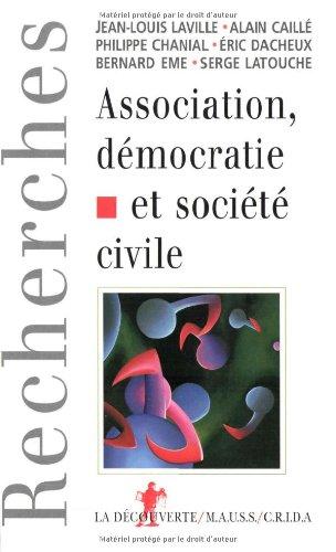 Association, démocratie et société civile par Jean-Louis Laville, Philippe Chanial, Caille Alain