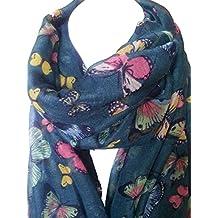 Nuovo tutte le stagioni grande farfalle colorate sciarpa