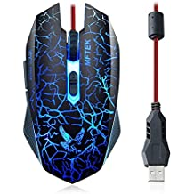 MFTEK Tag 3 2000 dpi LED Backlit Wired Gaming Mouse with Unbreakable ABS Body (Black)
