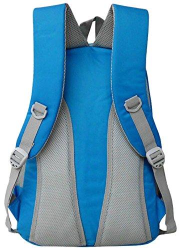 Longzibog Dual verstellbare Schultergurte und Hängeschlaufenband Mode Schulrucksäcke/Rucksack Damen/Mädchen Vintage Schule Rucksäcke mit Moderner Streifen für Teens Jungen Studenten Rot