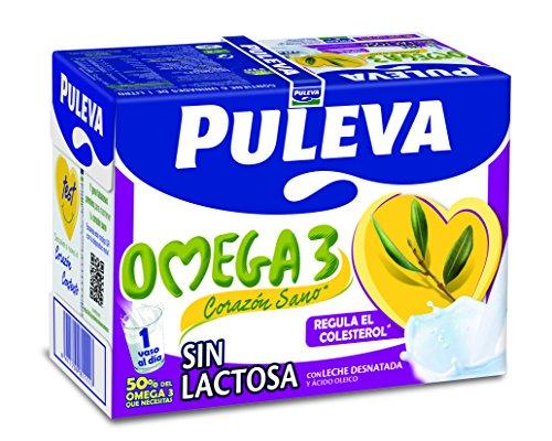 Puleva Omega 3 sin Lactosa - Pack 6 x 1 L - Total: 6 L