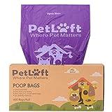 Petloft déjections canines Sac, durable, biodégradable Chien Sac poubelle Sac déjections canines en soie Distribue Format–Violet