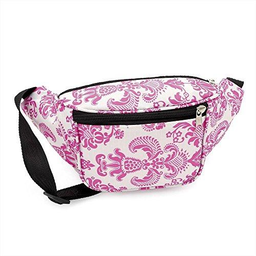 Pink & White Pattern Coloured Bum Bag