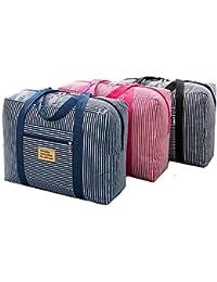 Ever Mall Foldable Waterproof Large Capacity Travel Luggage Duffle Bag Shopping Handbag (Multi Color)