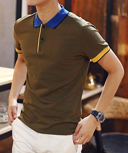 BICMART Herren Poloshirt Army Grün