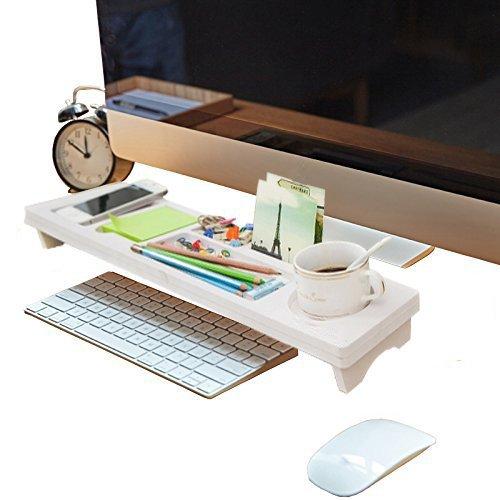 Velidy Multifunktionale Schreibtisch Organizer mit 7slots .Kleine Objekte Storage Tastatur Ware Regal,Stauraum für Stationery Gegenstände (Unter Schreibtisch Tastatur-regal)