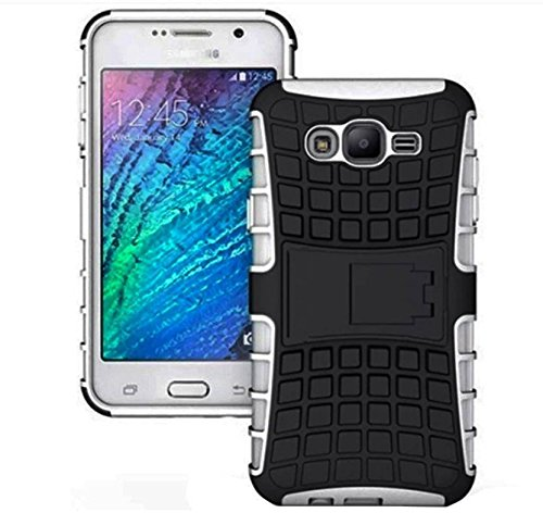 Inktree® Hybrid Military Grade Armor Kick Stand Back Cover Case for Samsung Galaxy On7/On7 Pro (White)