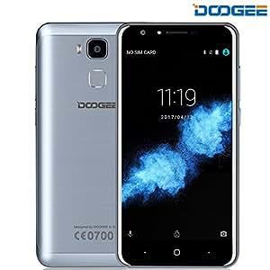 Telefonia Mobile, DOOGEE Y6C Dual SIM Smartphone Android 6.0 - 4G Quad-Core Telefoni Cellulari - 5.5 Pollici HD Sharp Schermo - 2GB RAM + 16GB ROM - 8.0MP Fotocamera e Sensore di Impronte Digitali - Blu