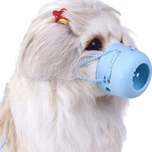 Cutepet Maulkorb Hundemaulkorb Kunststoffmaulkorb Atmungsaktiv Einstellbar Bellen und Kauen Abzuhalten,Blue,L (Kunststoff-trainings-kennel)