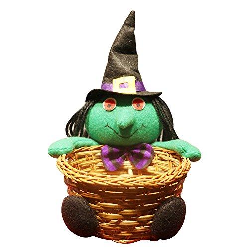 Demarkt Halloween Süßigkeit Korb Geschenk Beutel Halloween Dekoration Grün