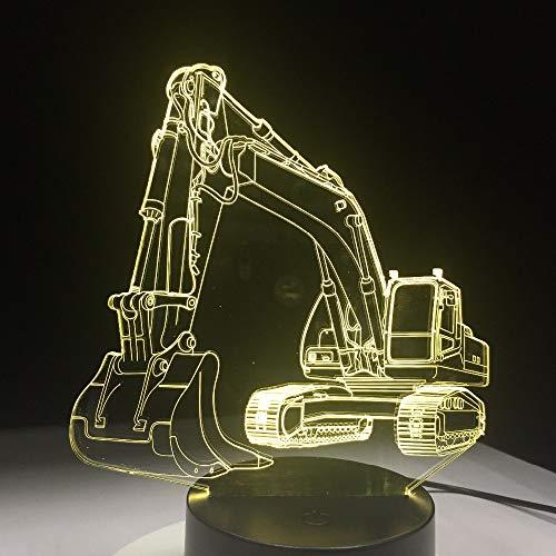 Farbe Lampe 3D Led Nachtlichter Für Kinder Touch Tisch USB Lampe Baby Schlaf Nachtlicht Fernbedienung Sieben Farben 208 * 160 * 87Mm (Fernbedienung) ()