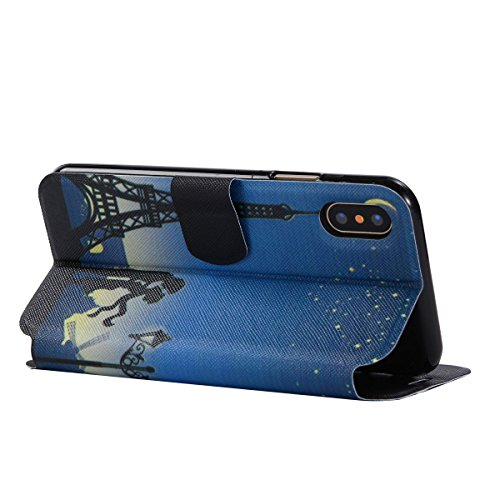 For IPHONE X[COLORFUL PU DDUD]Fashion Cute Magnetic Snap Wallet Card Flip Synthetic Holster Leather Stand With TPU Case Cover -DD06 DD04