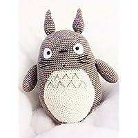 Totoro pupazzo Amigurumi. Regalo da collezione. regalo per bambini e neonati. pupazzo sicuro ed ecologico.