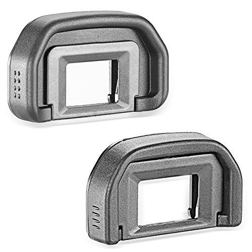 Neewer 10086841 - Paquete de 2 Ocular Eyecup (Canon EB Reemplazo) para CANON EOS 5D Mark II / 5D / 6D / 70D / 60D / 60Da / 50D / 40D