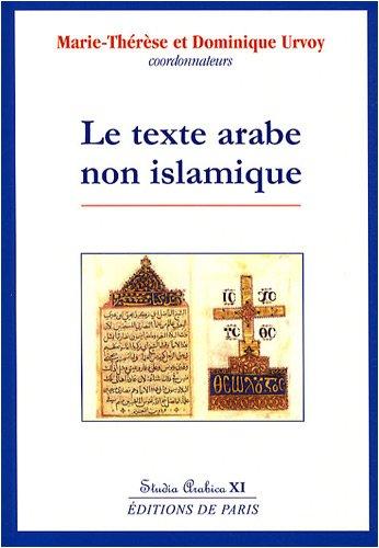 Le texte arabe non islamique