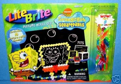 lite-brite-picture-refill-set-spongebob-squarepants-with-bonus-pegs