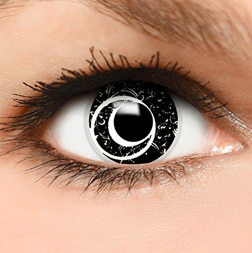 Farbige Kontaktlinsen Matrix in schwarz + Behälter - Top Linsenfinder Markenqualität, 1Paar (2 Stück)
