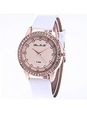 Souarts Damen Armbanduhr Beiläufige Geschäfts Analog Quarz Uhr mit Batterie für Weibliche Studenten Weiß Band