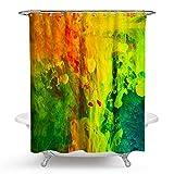 AnazoZ Duschvorhang 3D-Effekt Wasserdicht, Anti Schimmel, Umweltfreundlich Waschbar mit 12 Duschvorhangringen Polyester Bild Badvorhang für Badezimmer Badewanne - Stil 3 150 x 180 cm