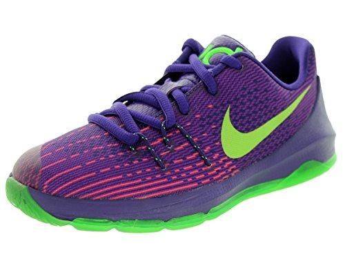 Kinder Kd Nike (Nike Kids KD 8 (PS) Crt Prpl/Grn Strk/Vvd Prpl/Brg Basketball Shoe 11 Kids US)