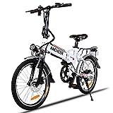 E-Bike mit 20 Zoll Klapprad Pedelec Elektrofahrad mit Lithium-Akku (250W, 36V), Ladegerät, 7-Gang Shimano Nabenschaltung