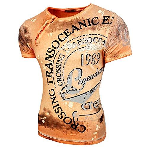 Rusty Neal Herren Rundhals T-Shirt Kurzarm Hemd Slim Fit Design Fashion  15045, Größe b96e64c82d
