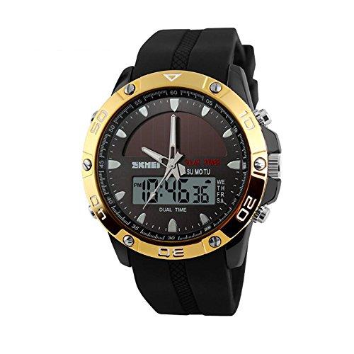 Preisvergleich Produktbild goodpro Solar Energie Herren Armbanduhr Quarz Herren Sport Uhren relogio Masculino Digital Multifunktional outdoor Armbanduhren
