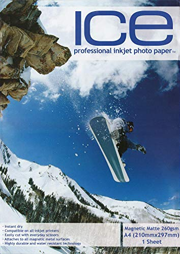 Sample ICE A4 Magnetic Matt Inkjet Photo Printer Paper - 690gsm - Printable Fridge Magnet