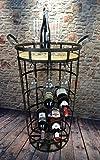 Livitat® Weinregal Weinschrank H75 cm Hausbar Metall Vintage Shabby Chic LV5015