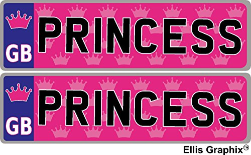 Princess Self-Adhesive Pink 14 x 4 cm Number Plate for sale  Delivered anywhere in UK