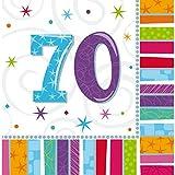 NET TOYS 16 Geburtstagsservietten Papier Servietten 70. Geburtstag Tischservietten Papierservietten zur Tischdeko