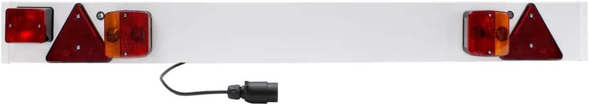 6m Kabel ECD Germany Lichtleiste f/ür Anh/änger 12V E4 Zulassung Nebelschlussleuchte R/ücklicht Beleuchtungsbalken Beleuchtung Reflektor 137 x 14 cm