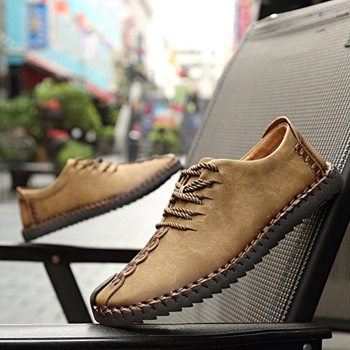 Meayou Scarpe Stringate Uomo Oxford Classico Stringate Scarpe Alla Moda Scarpe Business Sneaker Stringate Kaki Sneaker