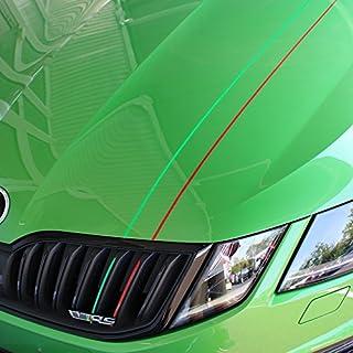Vor Skoda Kühlergrill + Motorhaube Aufkleber, SKODA Sport RS Octavia II III 23Kombi