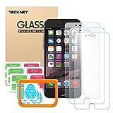 Pellicola Protettiva iPhone 6/6S, TeckNet [3-Pack] Pellicola Vetro Temperato per iPhone 6/6S con Foro per Fotocamera, Compatibile con 3D Touch (Kit Gratis di Installazione)