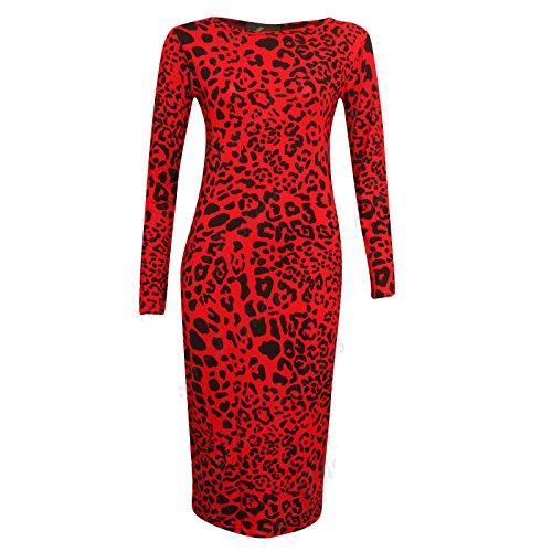 Mode Fées Robe pour femme Rouge léopard