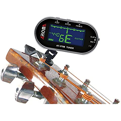 Droys £ ¨ TM) Aroma Accordatore elettrico portatile clip microfono schermo LCD sintonizzatore per chitarra cromatica Basso Violino Viola