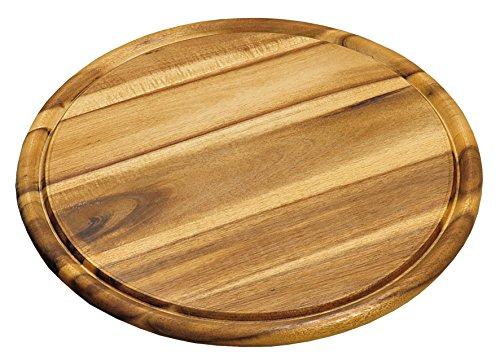 Kesper 20444 - tagliere rotondo in legno di acacia, diametro 30 cm, spessore 1.5 cm