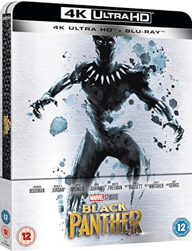Black Panther 4K Ultra HD Limited Edition Steelbook / Import / Includes Region Free Blu Ray