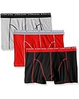 Bjorn Borg Men's Basic Seasonal Solids Contrast Pack of 3 Boxer Shorts
