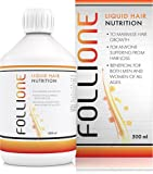 FolliOne Liquid Hair Nutrition | Healthy Plant Extracts For Strong, Shiny Hair, Promotes Growth & Reduces Thinning | With Vitamins & Minerals