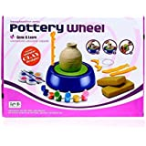 KP SALES Imaginative Art & Craft Battery Operated Pottery Wheel With Colors & Stencils, Learning & Creative Educational Game Toy Clay & Dough, Multi Color For Age 8+