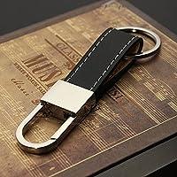 Acciaio inossidabile, lega di zinco e cuoio Formato: come l'immagine mostraPacchetto incluso 1 x portachiavi in pelle uomo