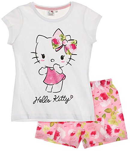 hello-kitty-fille-pyjama-court-blanc-4-ans