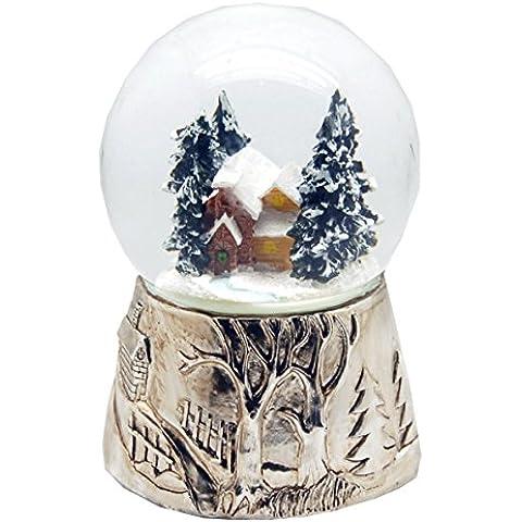 20044 Bola de nieve navidad invierno con musica medida 140 mm