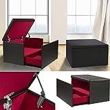 IDMarket Coffre Rangement Banquette Luxe Noir spécial Chaussures