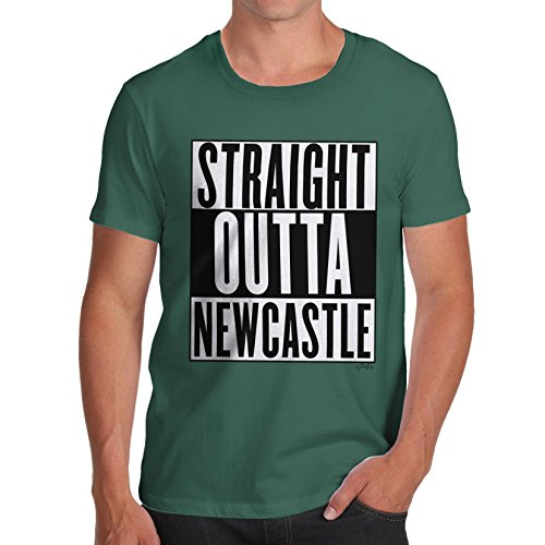 Herren Straight Outta Newcastle T-Shirt Flaschengrün