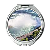 Specchio, Specchio da viaggio, cielo blu per uccelli da spiaggia, Specchio tascabile, specchio portatile